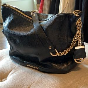 Michael Kors black leather purse/ handbag